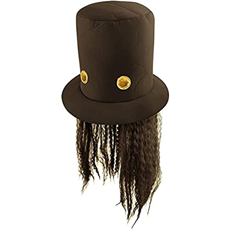 80s Slash Guitar Hero Fancy Dress Hat and Wig