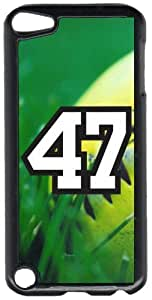 Softball Sports Fan Player Number 47 Black Plastic Decorative iPod iTouch 5th Generation Case