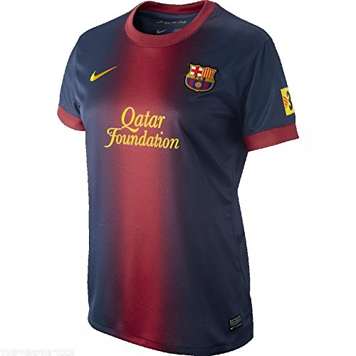13 Womens Shirt Red Nike Barcelona 2012 Home aq01aw