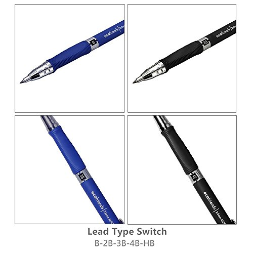 MyLifeUNIT 2.0mm Mechanical Pencil, 2mm Lead Pencil for Draft Drawing, Carpenter, Crafting, Art Sketching (Set of Pencils and Leads)