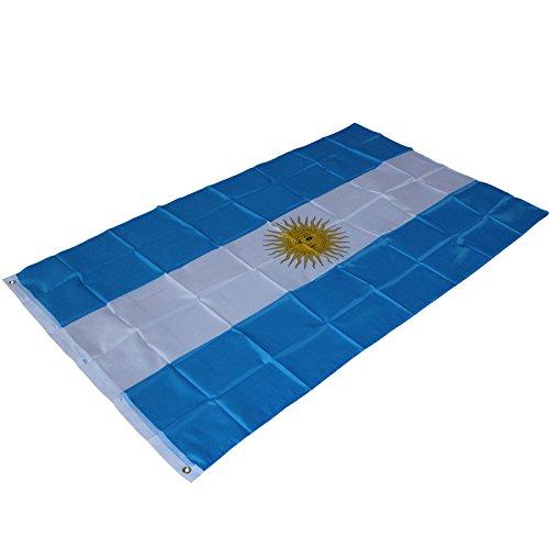 SimpleLife Bandera de Argentina 3 x 5 Arandelas de pancartas Fade Resistant Quality Premium Quality