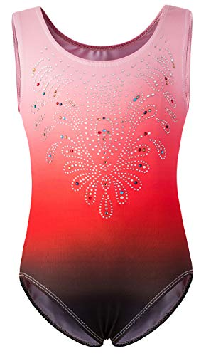 Gymnastics Leotards for Girls Dance Ballet One Piece Shiny Diamond(XXL,Red)]()