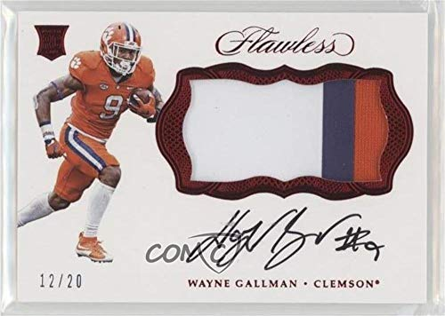 Wayne Gallman #/20 (Trading Card) 2017 Panini Flawless Collegiate - FB Rookie Patch Autographs - Ruby #RPA-WG2
