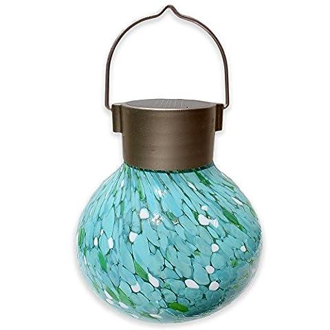 Allsop Hanging Outdoor Solar Tea Lantern in Mint - Allsop Led Solar Lantern