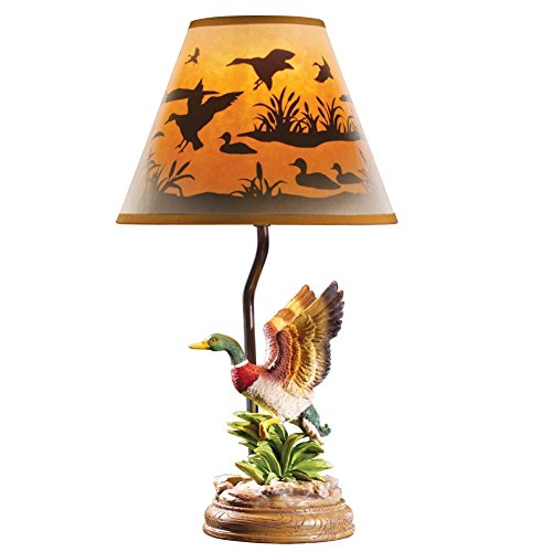 Mallard Taking Flight Table Brown