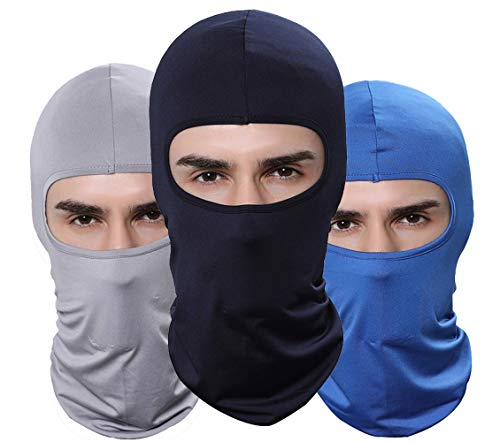 GANWAY Pack of 3 Outdoor Thin Balaclava Face Mask Winter Ski Mask for Men Motorcycle Airsoft Hunting Fishing Mask
