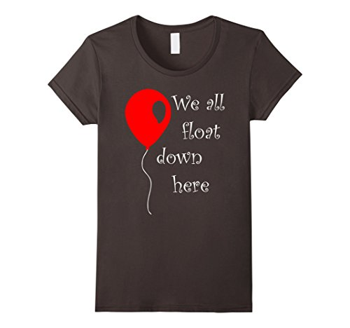Womens IT is Halloween Costume Red Balloon You'll Float Too T Shirt Medium Asphalt