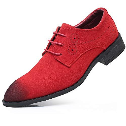 Scamosciata Pelle Scamosciata Scarpe in Stringate NXY da Scarpe Rosso Scarpe Uomo in Classiche Oxford Pelle xAPvIq