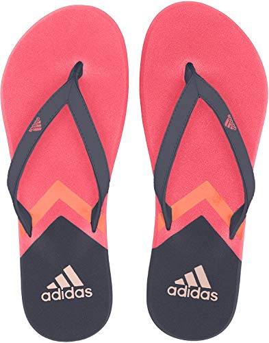 adidas Women's Eezay Flip Flop, Legend Ink/Active Pink/True Orange, 7 M US