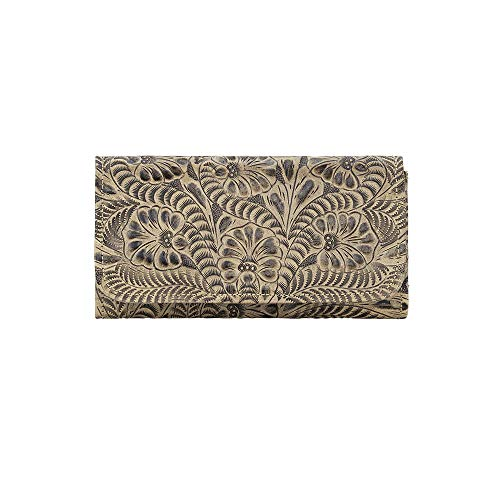 - American West Women's Tri-Fold Wallet With Snap Closure Sand One Size