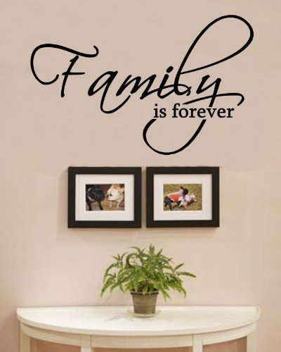- Family is Forever Vinyl Wall Decals Quotes Sayings Words Art Decor Lettering Vinyl Wall Art Inspirational Uplifting