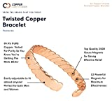 Copper Compression Twisted Copper Bracelet for
