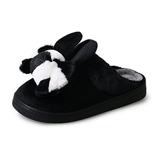 Slipper Toe Sole Flip winter Round Girls Long Non Novelty DANDANJIE Ladies Flops With Rabbit Ears Slippers amp; New Slip W1qgwn7S