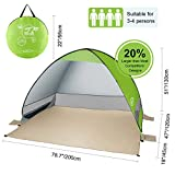 G4Free Outdoor Automatic Pop up Instant Portable Cabana Beach Tent 2-3 Person Fishing