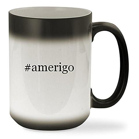 #amerigo - 15oz Black Hashtag Color Changing Sturdy Ceramic Coffee Cup Mug (Accutron Board)