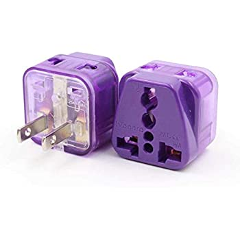 Travel Adapter Plug Type A B Grounded 2 In 1 For