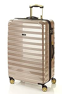 Flylite I-Luxe 77cm Hard Suitcase Luggage Trolley Gold Large