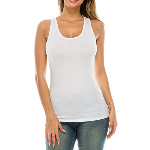 b4f4a9bd3c Nolabel Womens Sleeveless Long Length Adjustable Spaghetti Strap Racerback  Cami Tank Top Back Lace Plus Size