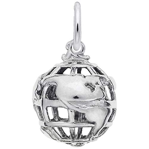 (Rembrandt Charms Globe Charm, Sterling Silver)