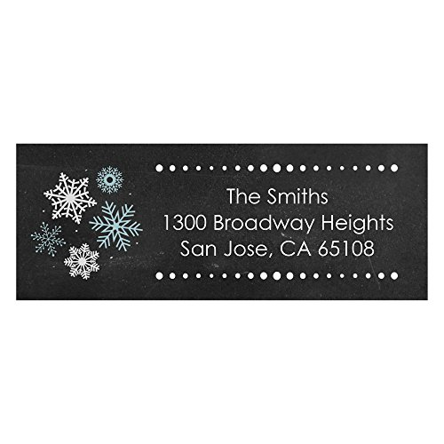 Custom Be Merry - Personalized Snowflake Christmas & Holiday Return Address Labels - Set of 30