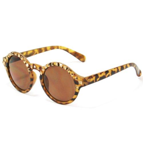 Studded Teashade Round Sunglasses For Women SS3145 - Teashade Sunglasses