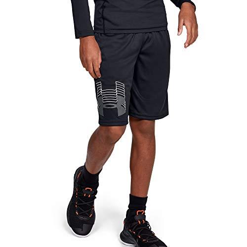 Under Armour boys Prototype Logo Shorts, Black (003)/Pitch Gray, Youth X-Large (Shorts Boy Men For)