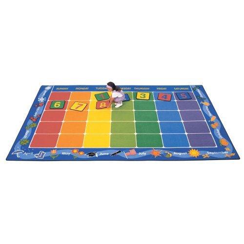 Carpets for Kids 1112 Theme Calendar Kids Rug Rug Size: 7'6