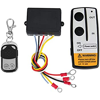 Amazon.com: LIEBMAYA Wireless Winch Remote Control Kit for ... on remote switch wiring diagram, badland winch parts, badland winch mount, rf remote receiver diagram, badlands motorcycle diagram, badland winches installation, audio amplifier kit diagram, badland atv winches, arduino wireless diagram, warn wireless remote wiring diagram, remote control winch wiring diagram, badland winches wireless remote diagram, wireless winch remote wiring diagram, badland winch coupons, badland winches wiring, badlands winch diagram, badland winch wireless remote control, switch circuit diagram,