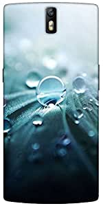 Snoogg Pure Dew Designer Protective Back Case Cover For One Plus One