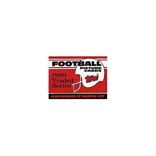 1989 Topps Traded Football Complete Mint 132 Card Set in Original Factory Set Box. Featuring Rookie Cards of Barry Sanders, Troy Aikman, Derrick Thomas, Deion Sanders and Many Others! ()