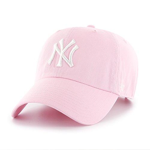 New Pink Womens Cap - '47 Brand Adjustable Cap - CLEAN UP New York Yankees petal