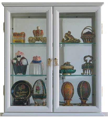 white wall cabinet with glass - 6