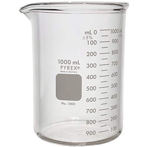 Pyrex Heavy Duty #1003-1L, 1000ml Beaker, Griffin, Low Form, Graduated ()