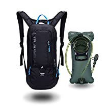 10L Mini Bikeing Backpack Waterproof,Jarvan Hydration Pack with 2L Backpack Water Bladder Cycling Ski Rucksack Biking Bag,Breathable Shoulder Backpack Lightweight for Outdoor Sports Camping Hiking Running
