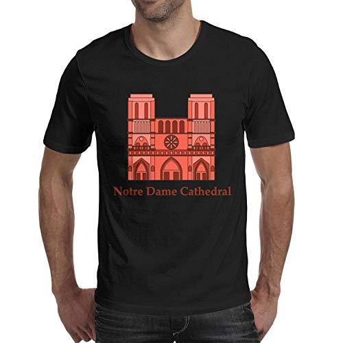 (Man's Notre Dame de Paris Funny Pattern Round Neck Tops)