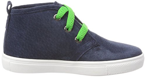 Braqeez Unisex-Kinder Lenny Louwies Hohe Sneaker Blau (Dark Blue)