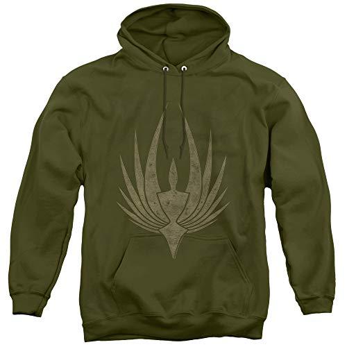 BSG Phoenix Unisex Adult Pull-Over Hoodie for Men and Women, Medium Military Green
