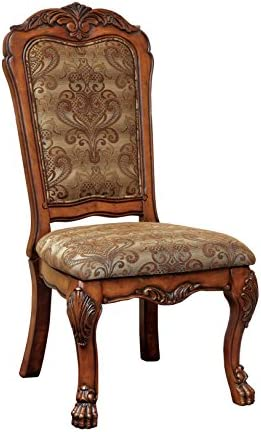 Furniture of America Victoria Fabric Upholstered Dining Side Chair