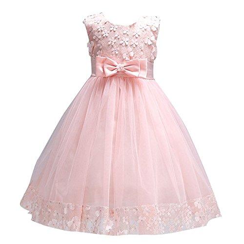 dressfan kids Party Flower Girl Dress (6, (Pageant Fancy Dress Costumes)