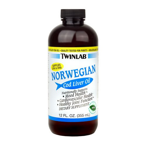 Twinlab Norwegian Cod Liver Oil Mint -- 12 fl oz - 2PC by Twinlab