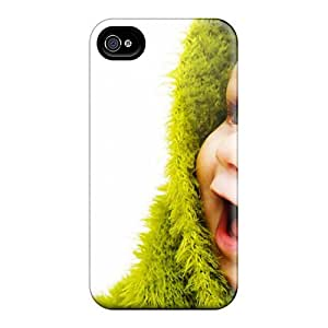 Rugged Skin Case Cover For Iphone 5/5s- Eco-friendly Packaging(little Cute Baby)
