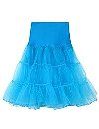 Tenworld Women's 50s Vintage Petticoat Crinoline Tutu Underskirts