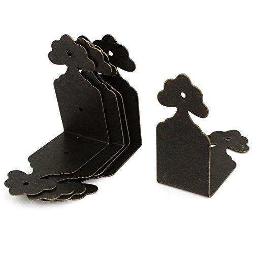 8pcs Right Angle Furniture Edge Corner Protector Bracket Bronze Tone (Chest Bracket)
