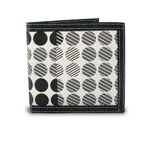 New Men's Bifold Screen Print Canvas Dot Pattern (Bi Fold Screen Print Wallet)