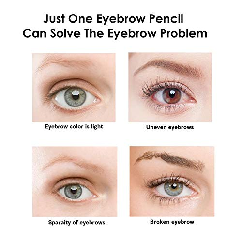 Eyebrow Tattoo Pen, Microblading Eyebrow Pen with a Micro-Fork Tip Applicator Long Lasting, Waterproof, Smudge Proof For Fuller Natural Looking Brows