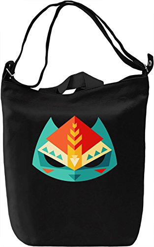 Lowpoly mask Borsa Giornaliera Canvas Canvas Day Bag| 100% Premium Cotton Canvas| DTG Printing|