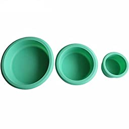 3 Piece Nonstick Round Silicone Cake Pop Baking Molds Set Bakeware Tray Baking Pans Molding for Cake/Pies/Bread/Ice Cream Kitchen Craft Tool