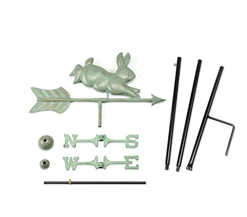 Good Directions Rabbit Garden Weathervane with Garden Pole, Blue Verde Copper by Good Directions (Image #1)