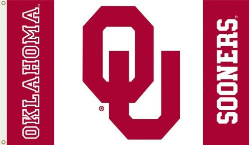 NCAA Oklahoma Sooners 3-by-5 Foot Flag -Logo with White Background- with Grommets