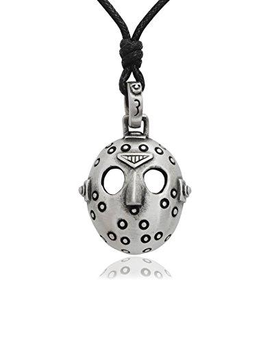 Vietguild Jason Hockey Mask Silver Pewter Charm Necklace Pendant Jewelry